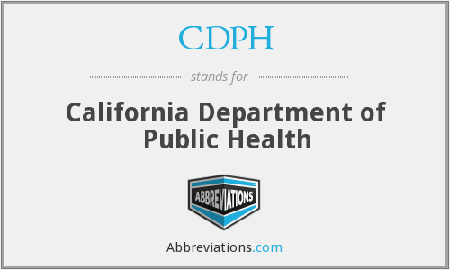 CDPH - California Department of Public Health