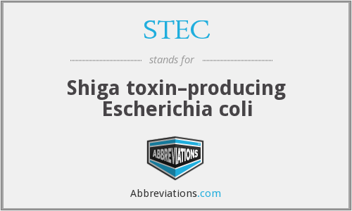 STEC - Shiga toxin–producing Escherichia coli