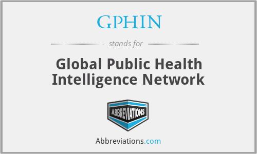 GPHIN - Global Public Health Intelligence Network