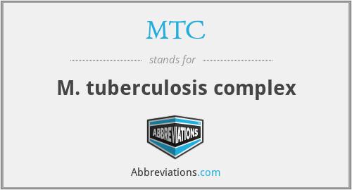 MTC - M. tuberculosis complex