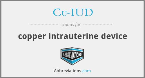 Cu-IUD - copper intrauterine device