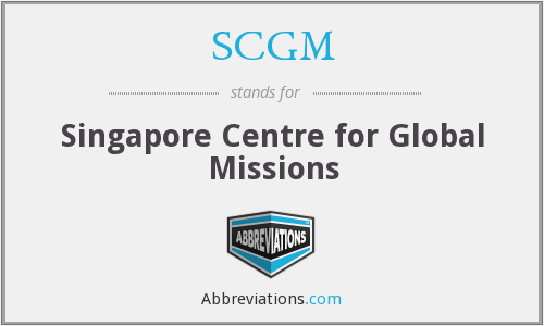 SCGM - Singapore Centre for Global Missions
