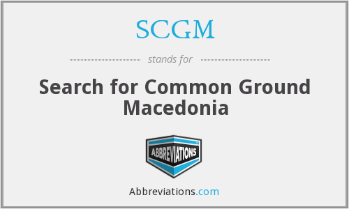 SCGM - Search for Common Ground Macedonia