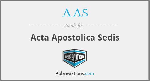 AAS - Acta Apostolica Sedis