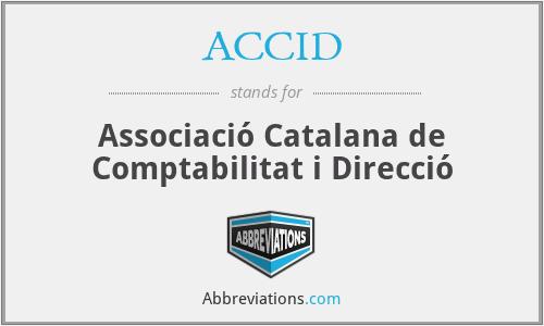 ACCID - Associació Catalana de Comptabilitat i Direcció