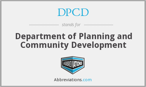 DPCD - Department of Planning and Community Development
