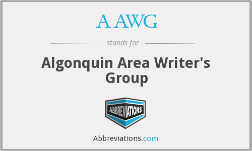 AAWG - Algonquin Area Writer's Group