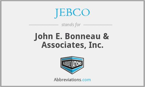 JEBCO - John E. Bonneau & Associates, Inc.