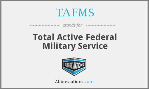 What does TAFMS stand for?