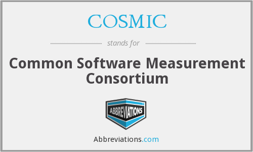 COSMIC - Common Software Measurement Consortium