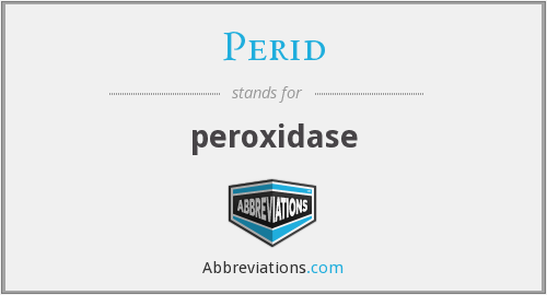 What does PERID stand for?