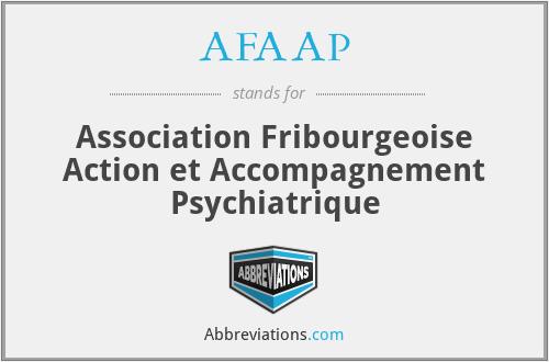 AFAAP - Association Fribourgeoise Action et Accompagnement Psychiatrique