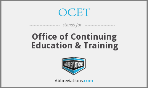 OCET - Office of Continuing Education & Training