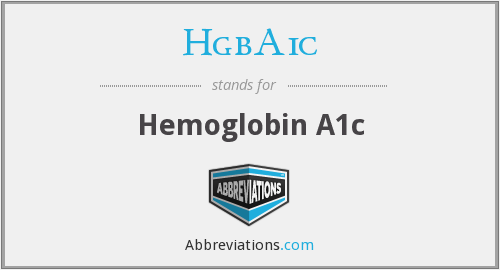 What does HGBA1C stand for?