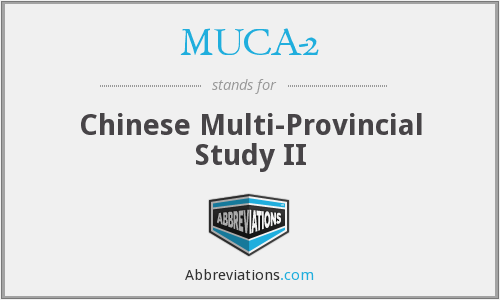 What does MUCA-2 stand for?