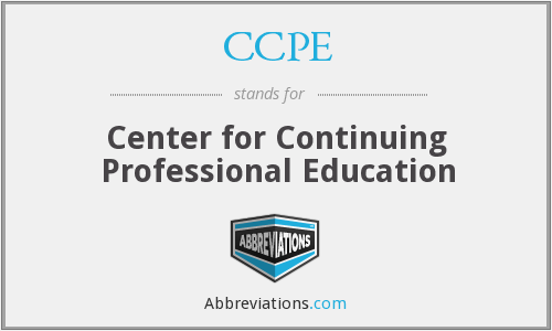 CCPE - Center for Continuing Professional Education