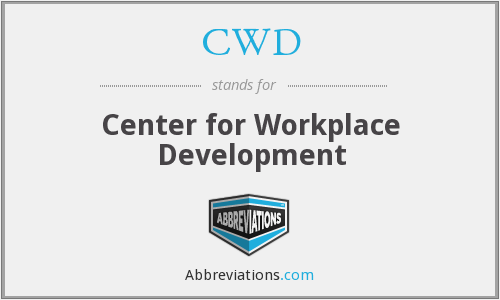 CWD - Center for Workplace Development