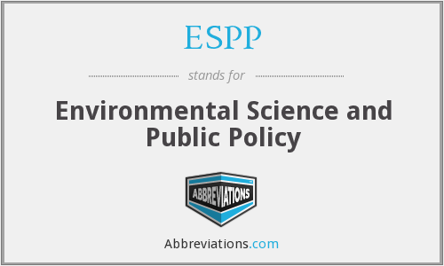 ESPP - Environmental Science and Public Policy