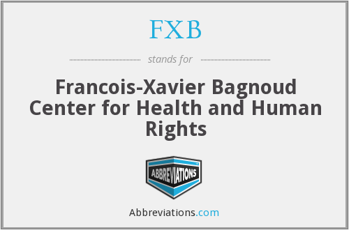 FXB - Francois-Xavier Bagnoud Center for Health and Human Rights
