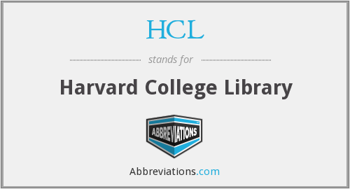 HCL - Harvard College Library
