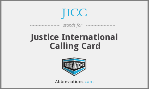 JICC - Justice International Calling Card