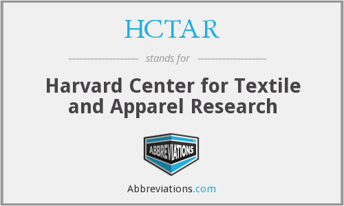 HCTAR - Harvard Center for Textile and Apparel Research