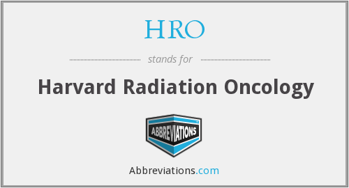 HRO - Harvard Radiation Oncology