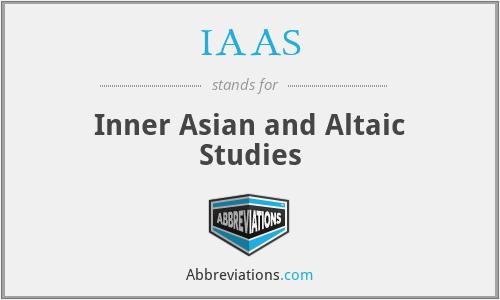 IAAS - Inner Asian and Altaic Studies