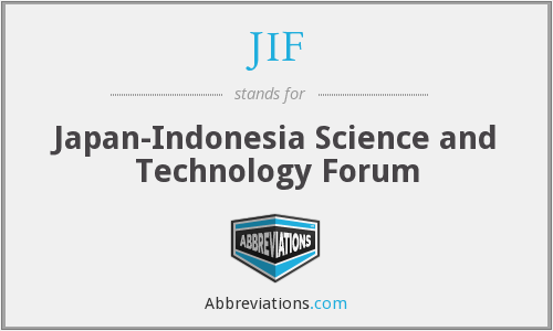JIF - Japan-Indonesia Science and Technology Forum