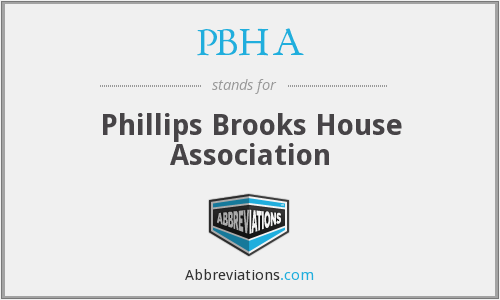 PBHA - Phillips Brooks House Association