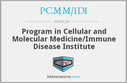 What does PCMM/IDI stand for?