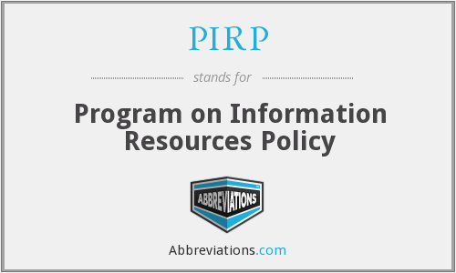What does PIRP stand for?