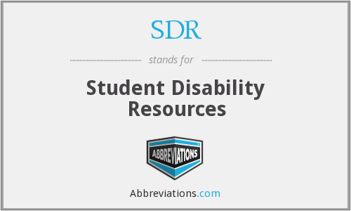 SDR - Student Disability Resources