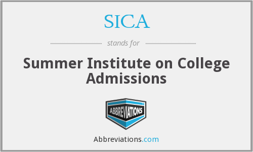 SICA - Summer Institute on College Admissions
