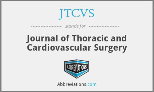 JTCVS - Journal of Thoracic and Cardiovascular Surgery