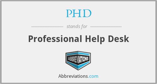 PHD - Professional Help Desk