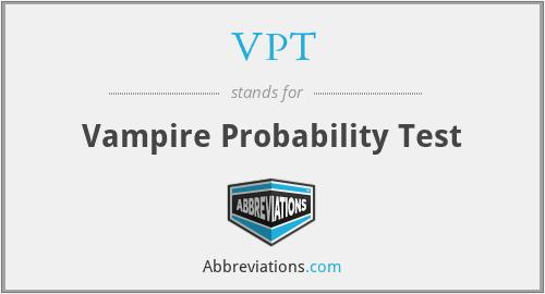 VPT - Vampire Probability Test