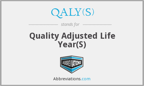 What does QALY(S) stand for?