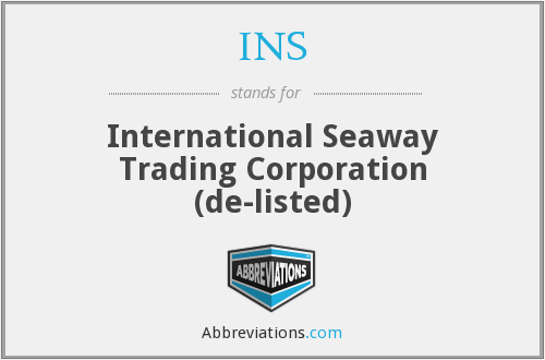 INS - International Seaway Trading Corporation (de-listed)