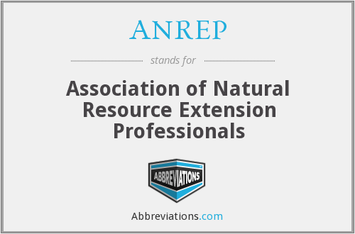 ANREP - Association of Natural Resource Extension Professionals