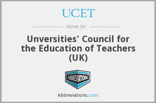 UCET - Unversities' Council for the Education of Teachers (UK)