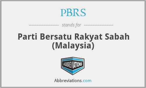 PBRS - Parti Bersatu Rakyat Sabah (Malaysia)
