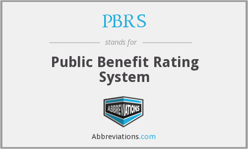 PBRS - Public Benefit Rating System