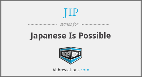 JIP - Japanese Is Possible
