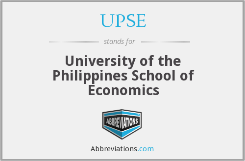 UPSE - University of the Philippines School of Economics