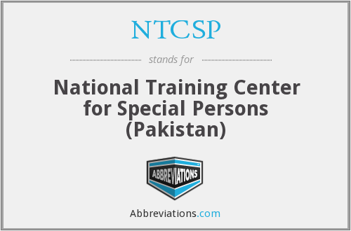 NTCSP - National Training Center for Special Persons (Pakistan)