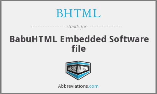 What does BHTML stand for?