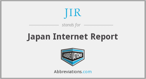 JIR - Japan Internet Report