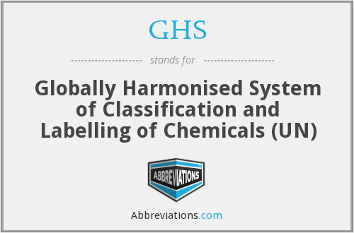 GHS - Globally Harmonised System of Classification and Labelling of Chemicals (UN)