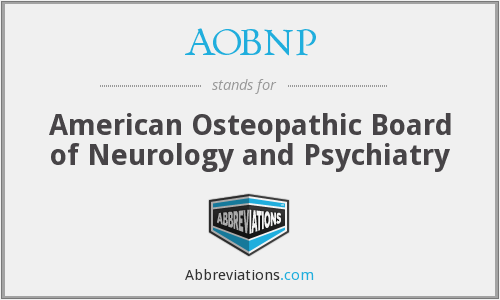 What does AOBNP stand for?